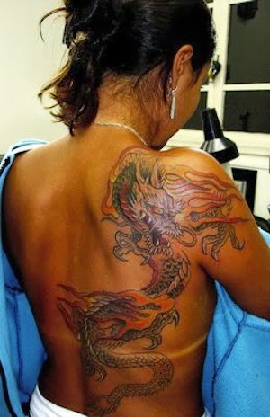 Girl Dragon Tattoos 45