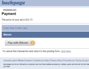 Backpage accept bitcoin for escort service posting.