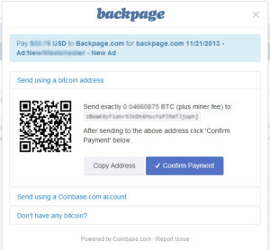Backpage Bitcoin Payment