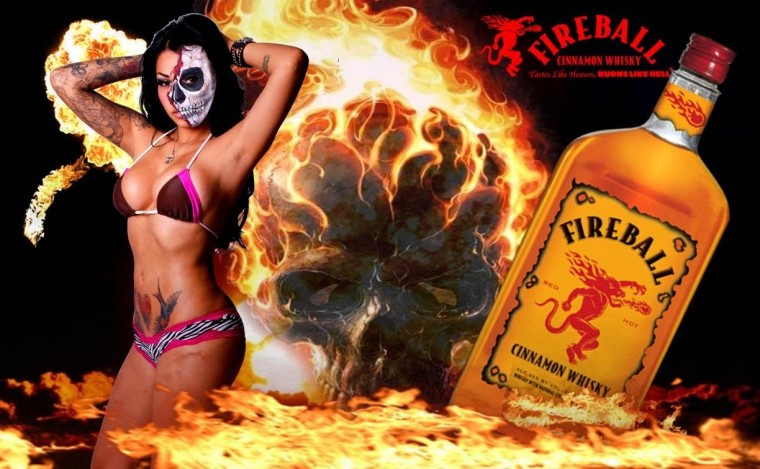 FIREBALL WHISKY Girl