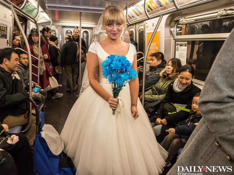 wedding on the N train
