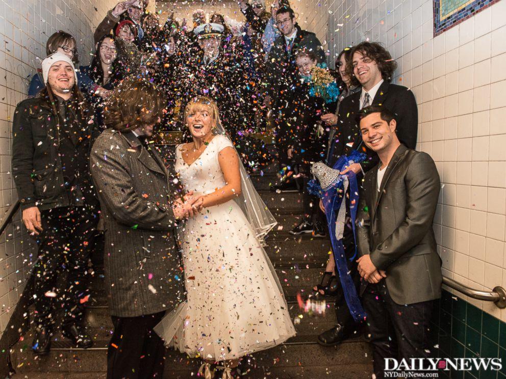 wedding on the N train